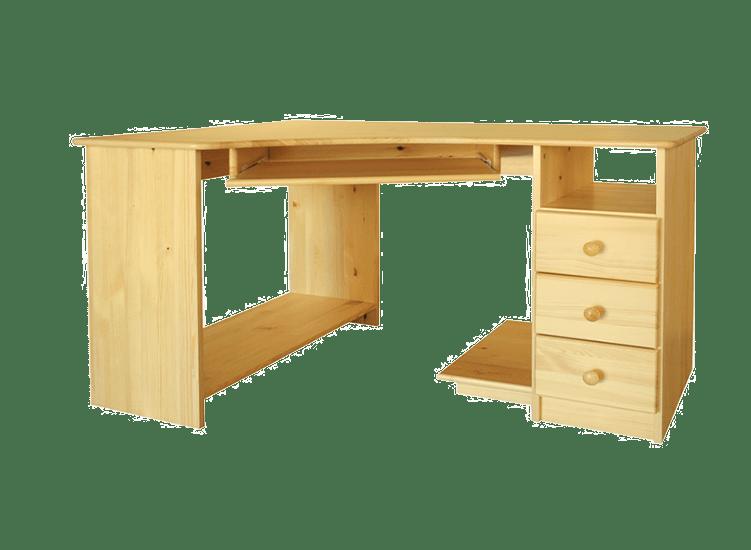 jasne drewniane biurko